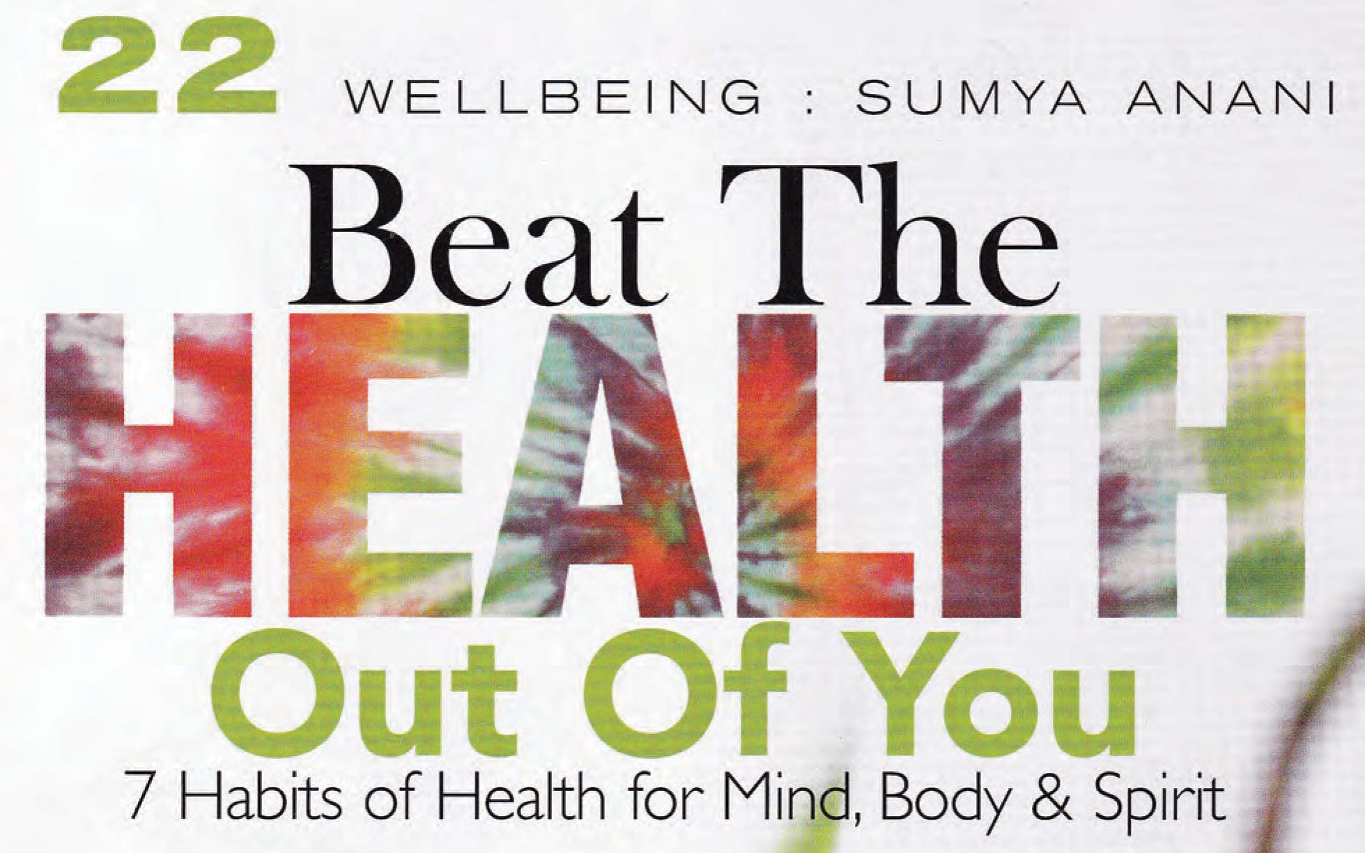 Wellbeing: Sumya Anani