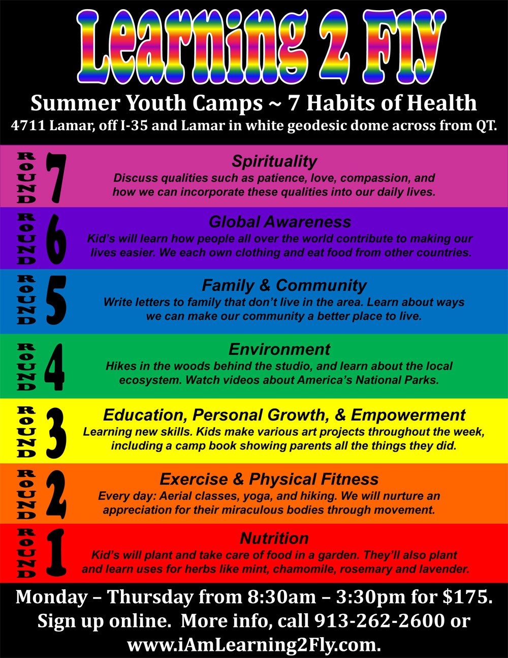THREE MORE WEEKS OF YOUTH SUMMER CAMPS!